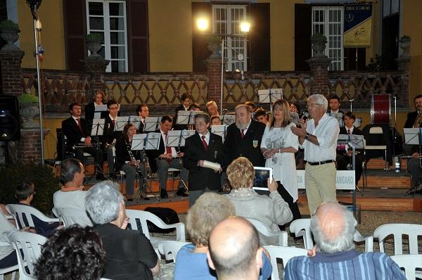 Da sinistra: Dori Cavigioli, Gigi Maggiora, Agnese Ugues, Alessandro Merletti (foto Sergio Zanini)