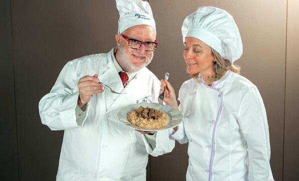 Edoardo Raspelli e Silvia Saltarelli assaggiano il Casulot