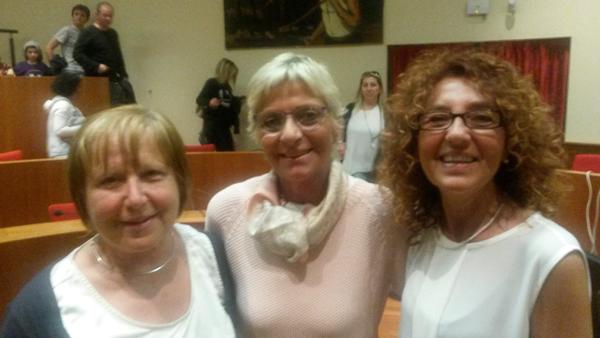 Da sinistra: Francesca Zoavo, Lura Ghersi, Antonella Menzio