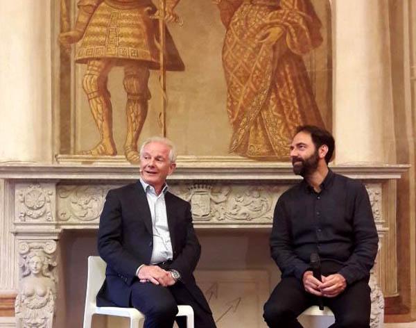Graziano Cimadom con Neri Marcorè