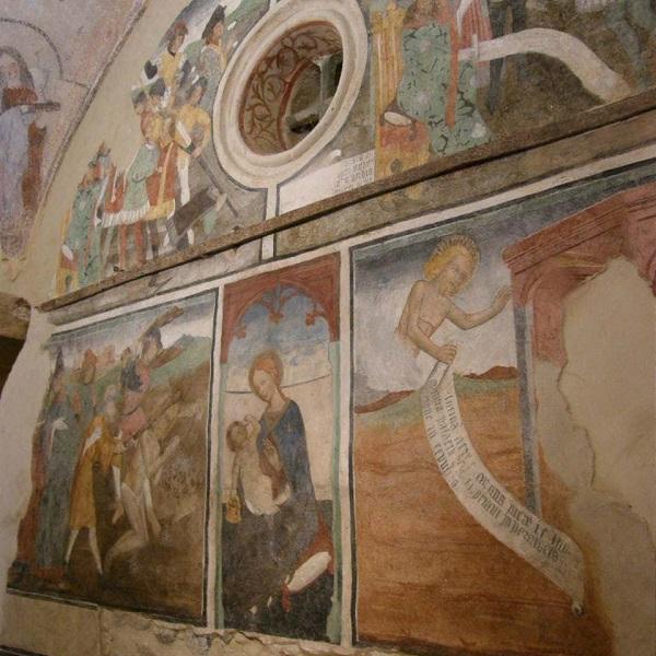 Gli affreschi nella chiesa di san Sebastiano a Giaveno